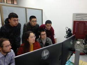 Figure 1. Advanced TIMA-X operator training. Front (L to R) Jakub VÝRAVSKÝ, MS LI Xiaorong, LIU Siqi, Back L-R: HUANG Baoyou, ZHANG Lei and CHEN Siyu.