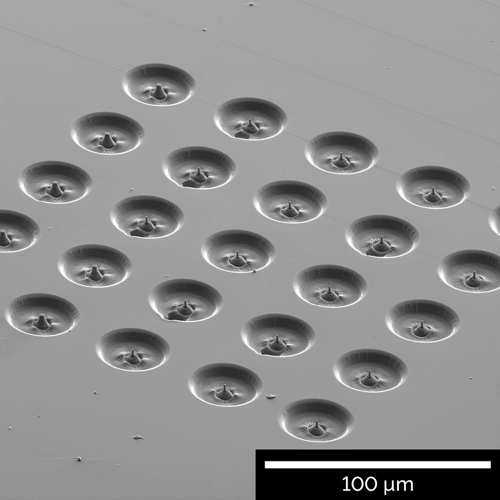 Array of micro-compression pillars